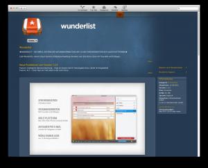 Wunderlist im Mac App Store