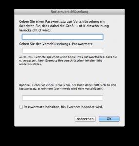 Fenster zur Passwort-Eingabe