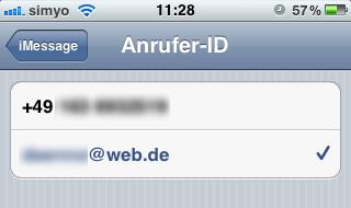 Apple-ID als Anrufer-ID
