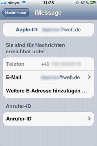 Telefonnummer und Mail-Adresse angeben