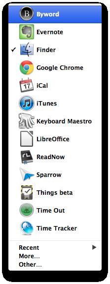Auflistung der aktiven Apps