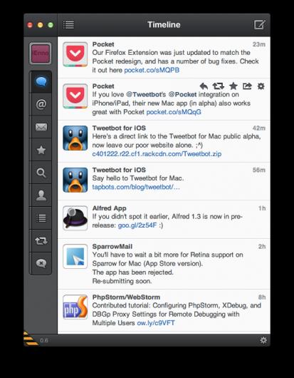 Ansicht der Timeline unter Tweetbot für Mac