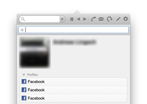 Mehrere Facebook-Profile, die alle auf dasselbe Profil zeigen