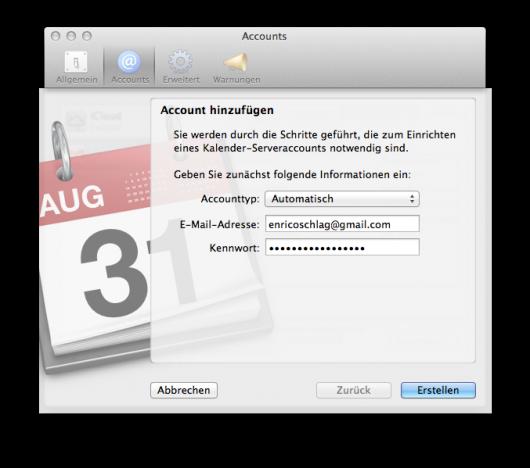 Accounttyp: Automatisch