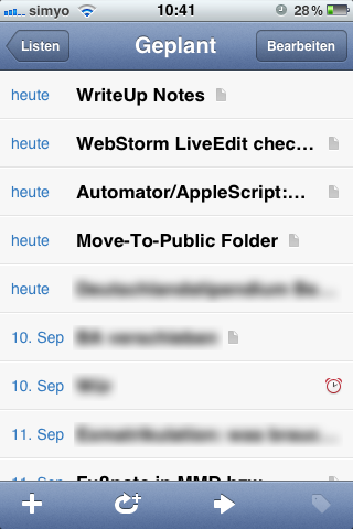 Geplante Aufgaben (iOS)