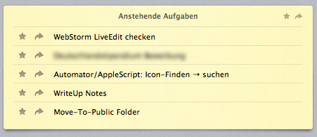 Review List auf dem Mac