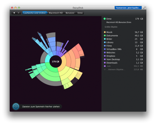 Das Interface am Beispiel meines Benutzerordners