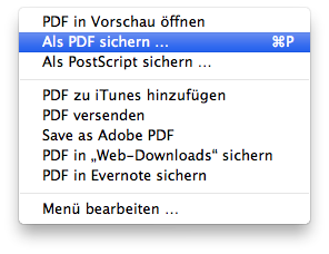 PDF-Optionen – now with 100% more Shortcuts