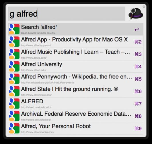 Google-Ergebnisse für Alfred