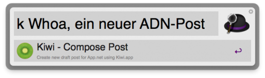 Neuer Post in Kiwi-Workflow