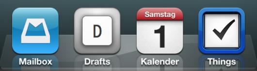 Drafts in meinem Dock