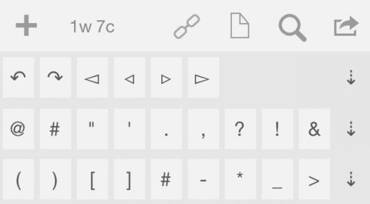 Die verschiedenen Status der zusätzlichen Tastaturleiste
