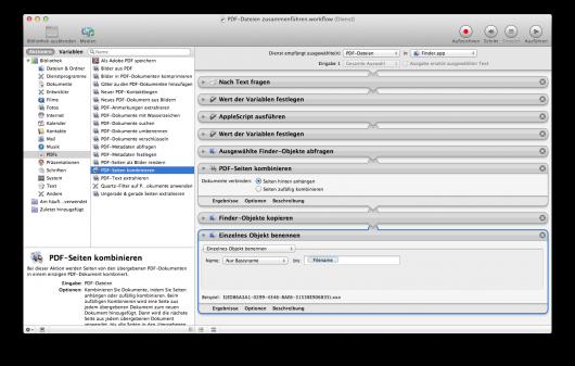 Automator als Mac App zur Drag&Drop-Automatisierung
