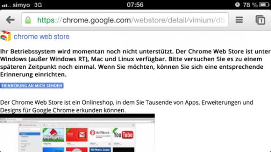 Googles mit gleichem Verhalten im Chrome Web Store
