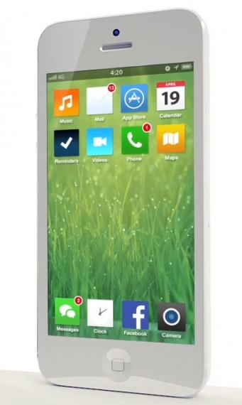 Eines von vielen Konzepten zum Flat Design für iOS 7