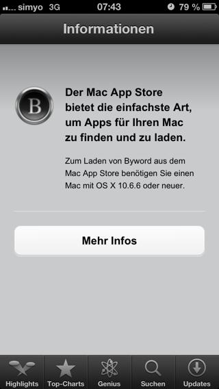 Mac App Store auf dem iPhone