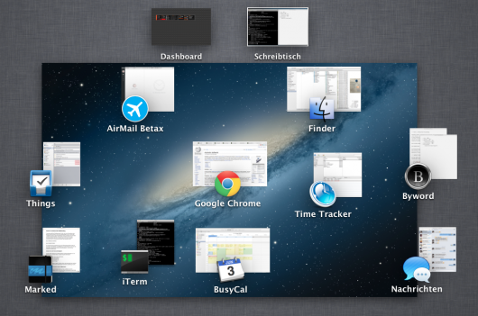 Mission Control unter OS X