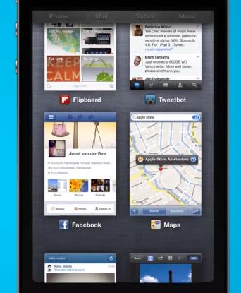 Multitasking-Konzept für das iPhone