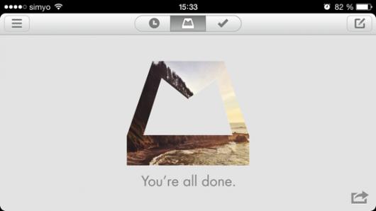 Landscape-Modus mit leerer Inbox
