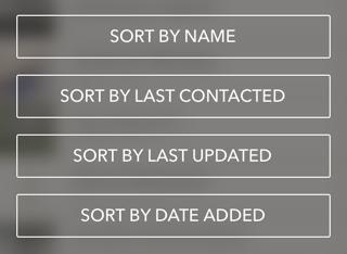Sortierung von Kontakten