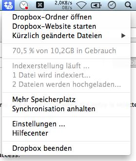 Altes Dropbox-Menü via ⌥-Klick