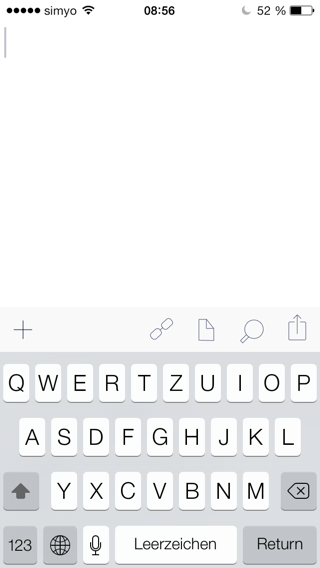 Drafts nach dem Start in iOS 7