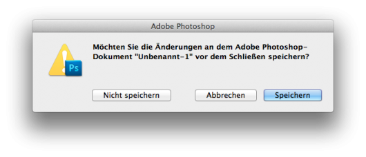 Speichern-Dialog in Photoshop