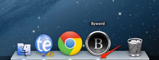 Indikator unter laufenden Apps