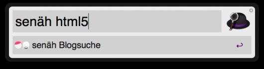 senäh-Suche nach HTML5