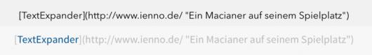 Oben: Write (falsch), unten: Editorial (besser)