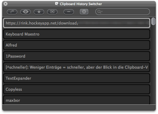 Clipboard History Switcher