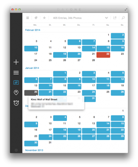 Kalender mit Mouseover