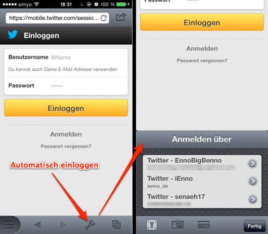 Automatisches einloggen unter iOS