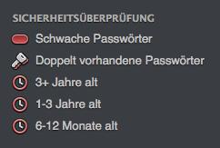 Sicherheitsüberprüfung in der Seitenleiste