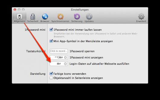 Shortcut für automatisches Einloggen