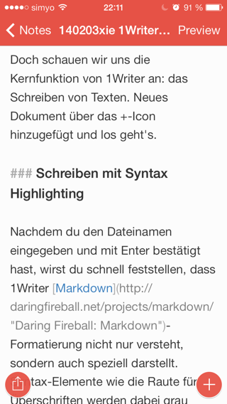 Syntax Highligting am iPhone